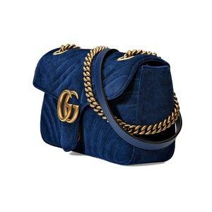Gucci Bags - Gucci GG Marmont Velvet Shoulder Bag